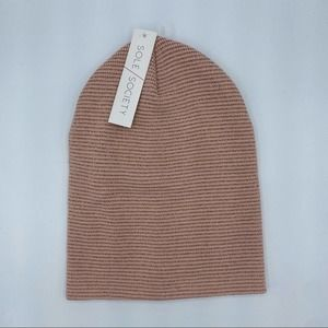 SOLE SOCIETY Pink Beanie